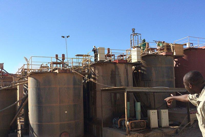 Línea de producción de minas de oro